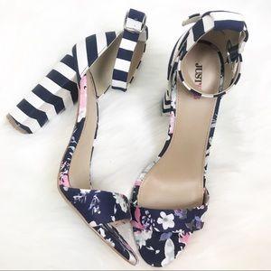 ▪️JUSTFAB▪️ Floral strappy heels. 8.5/ 39euro